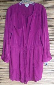 Maison Jules Maroon Shirt Dress XL Plus
